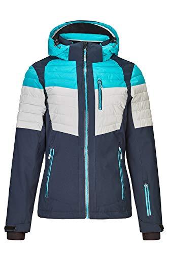 Killtec Veste de ski femme Yalind - Veste d'hiver pour femme - Veste sportive avec poche pour forfait de ski - Veste chaude pour l'hiver - Imperméable et respirante M aqua