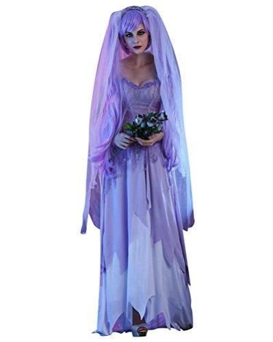 Disfraz De Zombie Novia Traje para Mujer Halloween Cosplay Costume S