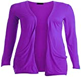 Loxdonz Kids Girls Boyfriend Cardigan Open Front Casual Long Sleeve Fashion Top with Pockets Age 5-13 Years (7-8 Years, Purple)