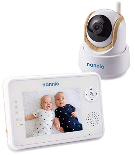 """Nannio Comfy Video Baby Monitor 3.5"""" with Pan Tilt Zoom Camera, Enhanced Night Vision, Crying & Temperature Alert, VOX Mode, 2-Way Talk, Wireless High Privacy, Wall Mount Kit,"""