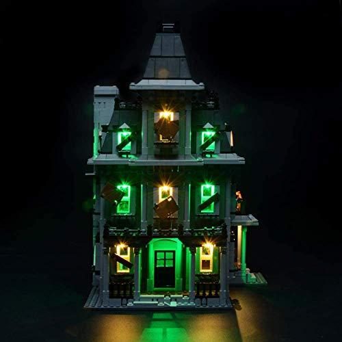 HLEZ USB Juego de Luces de para Casa Encantada de Monster Fighters Modelo de Bloques de Construcción, Kit de Luces Compatible con Lego 10228 (Modelo Lego no Incluido)