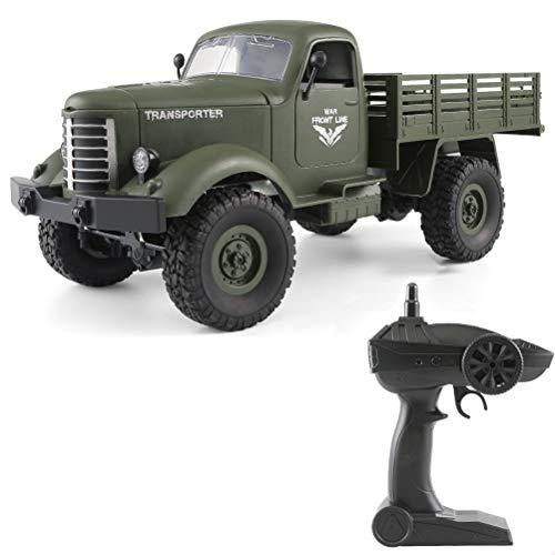 RC Military Truck, Creamon RC Military Truck Allradantrieb Offroad Crawler Armee Auto Fernbedienung LKW Spielzeug für Kinder Jungen Erwachsene Grün