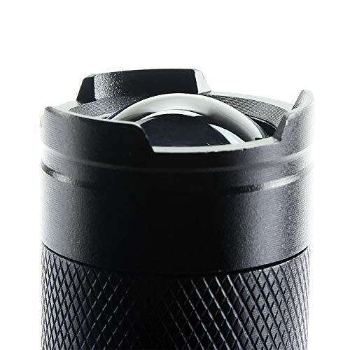 Mini 1200LM Q5 Zoomable lampe de poche LED Preuve lampe torche Portable Flashlights puissant en alliage d'aluminium Stylo d'éclairage à lampe de poche randonnée extérieur 3 modes Noir