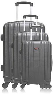 Hero Luggage Set, Black (Noir), 75 cm