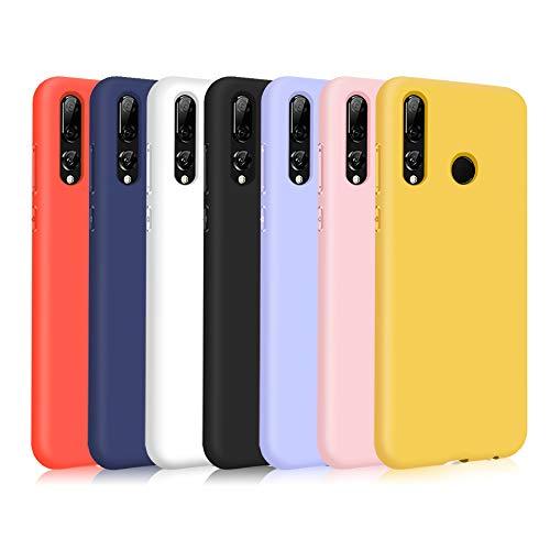 TVVT 7X Funda para Huawei P Smart+ 2019 / P Smart Plus 2019, Ultra Delgado Color Carcasa Premium Ultraligero Suave Silicona TPU Protectora Espalda Case Cover Anti-Rasguños - Siete Colores