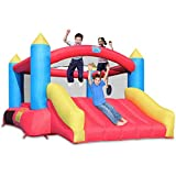 ACTION AIR Bounce House, Bounce House with Blower, Bouncy House with Slide for Kids, Inflatable Bounce House for Outdoor and Indoor (AM0745)