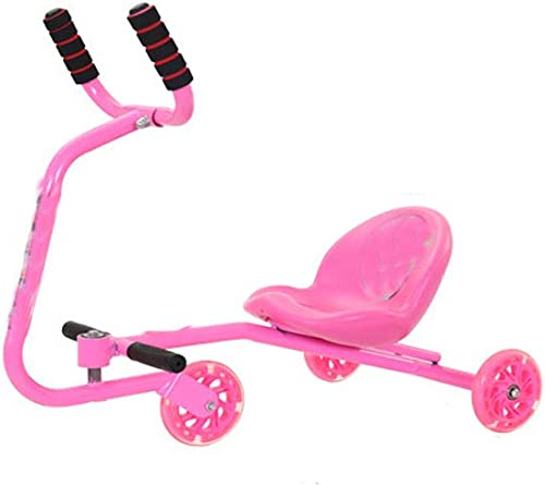 Der lange Reiter der neuen Kinder, der m lichen und Weißichen Babyquadratroller des yo Autos schwingt, scherzt fürradSpaßierg er