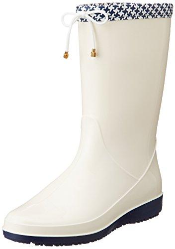 [アキレス] レインブーツ 長靴 作業靴 レインシューズ 日本製 2E レディース OAB 0140 アイボリー 23.5