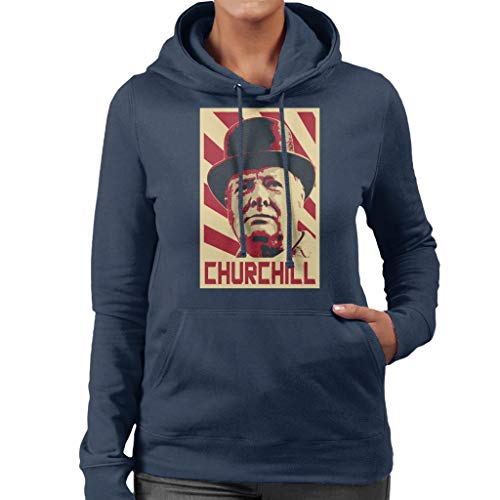 Cloud City 7 Winston Churchill Retro Propaganda Women's Hooded Sweatshirt