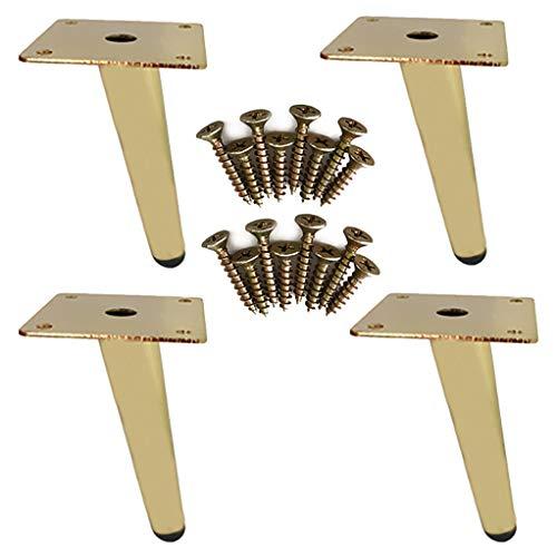 YuBao meubelpoten van metaal voor 19 cm kasten, moderne banken, tafelpoten, tafelpoten, tv-voet, rubberen mat, hoge en elegante keukenpoten