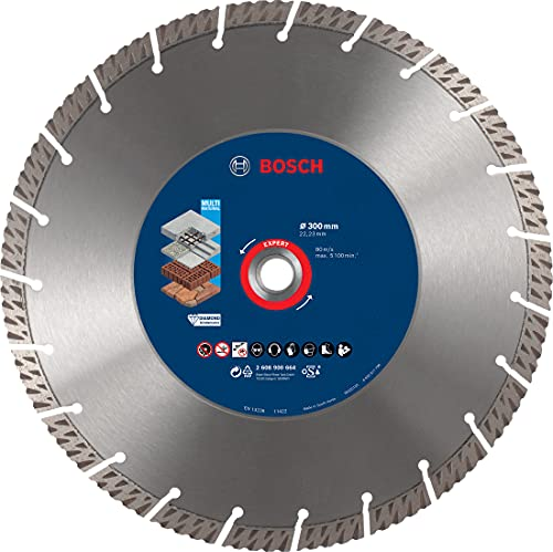 Bosch Professional 1 x Discos de corte de diamante Expert MultiMaterial, para Hormigón, 300 mm, Accesorios Amoladora grande