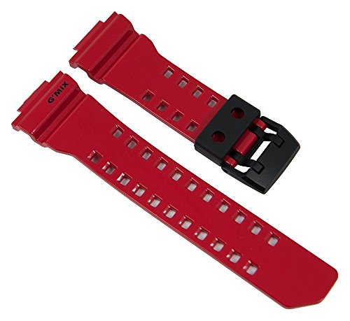Casio G-Shock Uhrenarmband Resin Band Rot für GBA-400 10479601