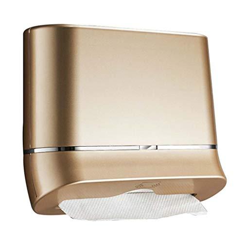 Summerone Wand- Badezimmer-Gewebe-Zufuhr, Compact Papierhandtuchspender, Gewerbe, Punsch Frei, Papierhandtuchspender for Heim & Küche (Color : Gold)