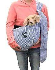 ドッグスリング ペットスリング バッグ 犬 抱っこ紐 小型犬 中型犬 メッシュ 10kg リング 耐久性 ペット スリング ペットバッグ(長さ調整可能) (ネイビー)