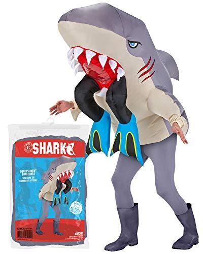 Original Cup Disfraz Hinchable tiburón Assassin, cos-req, única ansdulte