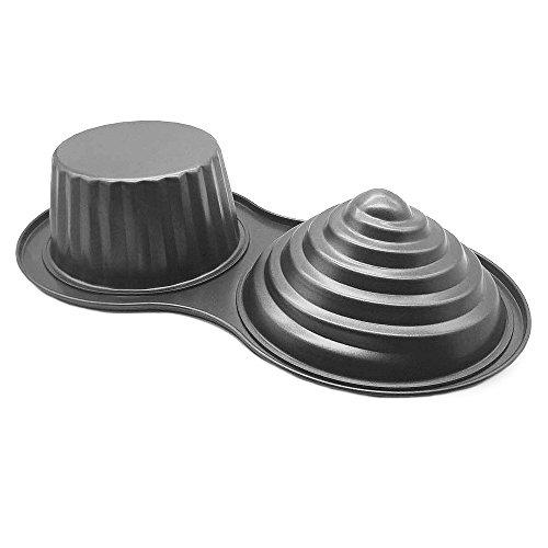 homow 3d gigante moldes para magdalenas, antiadherente de acero al carbono