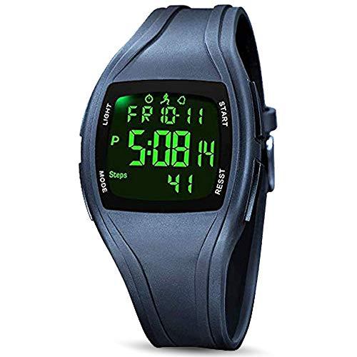 READ Digital Sport Armbanduhr Schrittzähler, 3D Pedometer Outdoor Digital Sportuhr Uhren Wasserdichter Countdown/stoppuhr/Alarm mit LED Hintergrundbeleuchtung