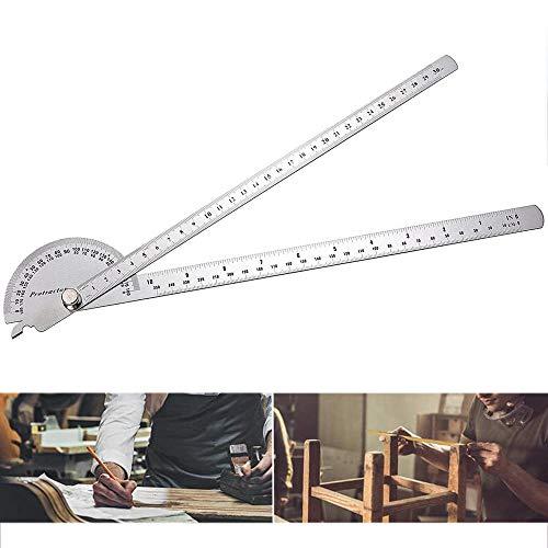 yyuezhi 0-180 Grad Edelstahl Winkelmesser Goniometer Winkel Messen Gradmesser Winkelsucher rostfreier Stahl Winkellineal Winkelmesser Multifunktionaler Winkelmesser Maschinist Werkzeug 1 Stück