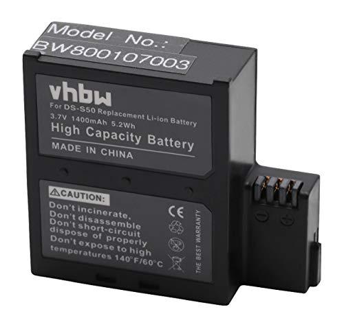 vhbw Batteria compatibile con AEE D33, S50, S51, S70, S71 videocamera camcorder (1400mAh, 3,7V, Li-Ion)