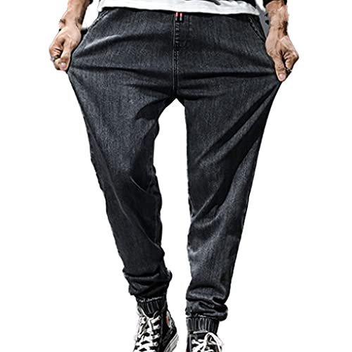 N\P Streetwear - Pantalones vaqueros para hombre, con bolsillo grande, pantalones de mezclilla para hombre