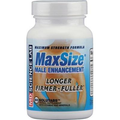 M.d. Science Lab Maximum Strength Maxsize Male Enhancement - 60 Tablets