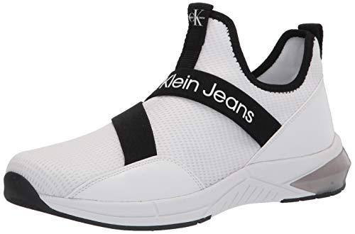 Calvin Klein Women's Sadie Sneaker, White, 9
