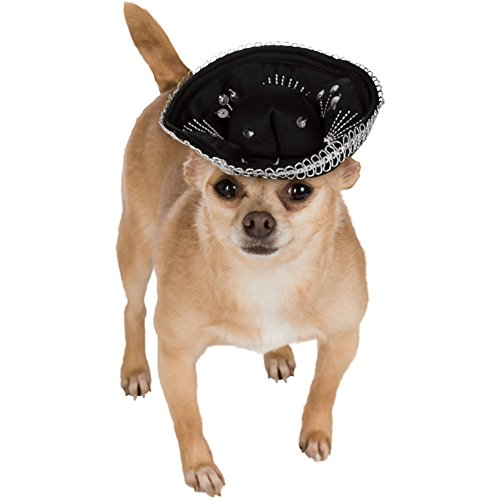 Noir et argent pour animal domestique Sombrero-small/Medium