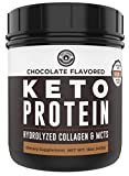 Keto Collagen Protein Powder Chocolate, 10g Grass-Fed Collagen, 5g MCT Powder, 1lb, 25 Servings, No Carb Protein Powder, Low Carb Meal Replacement Shakes, Ketogenic Shake Mix by Left Coast Performance