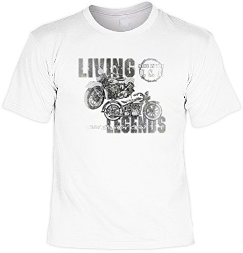 Motocicleta motorista T-Shirt Living Legends FB blanco Blanco blanco Talla:5XL