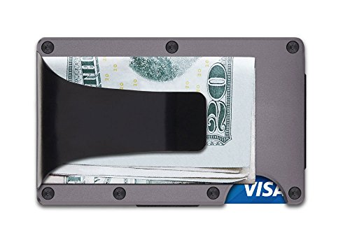 The Ridge Wallet Aluminium Gunmetal Money Clip Geldklammer Geldbörse RFID sicher