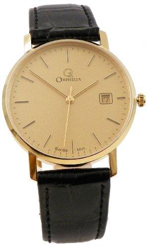 Orphelia herenhorloge XL analoog kwarts leer MON-7065