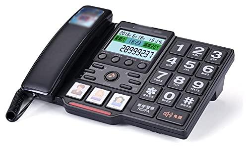 Teléfono con cable fijo Tipo de asiento de teléfono fijo Tipo de asiento a domicilio Máquina de sentado a domicilio Botón de anillo grande para el número de teléfono de ancianos Teléfono de teléfono f