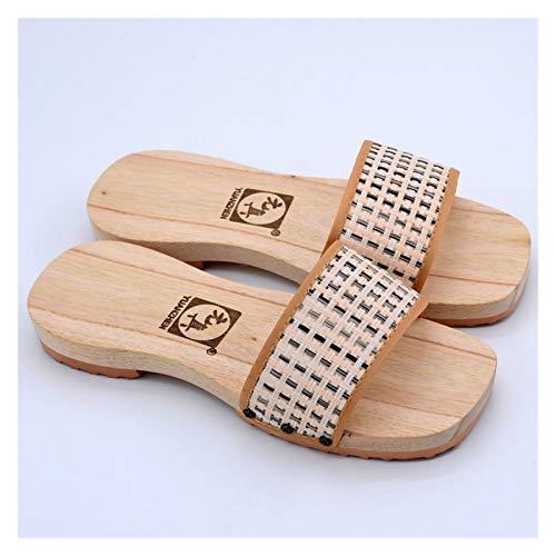 Without logo SFQRYP NUEVOS Zapatillas de Madera Moda Simple Tarea Tarea Tarea Tareas de Ducha Slippers Hombres Y Mujeres Zapatos De Madera ¿Zapatos de Madera Antideslizantes (Color : 03, Size : 39)