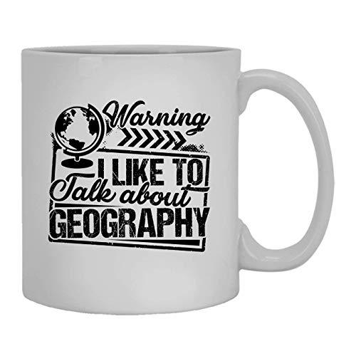 NA Mi Piace Parlare di Tazza di Geografia, Tazza di caffè, Tazza di caffè Grande 11 oz