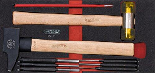 KS TOOLS 713.1101 Module d'outils de frappe manche bois, 9 pièces