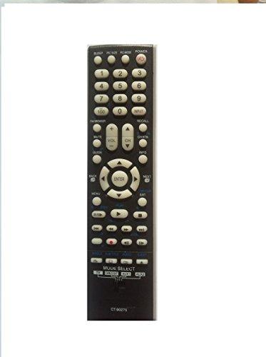 New Toshiba CT-90275 CT 90275 CT90275 Remote for 19AV500, 19AV500U, 19AV501, 19AV501U, 19AV51U, 26AV500, 26AV500U, 26AV50U, 26HL47, 26HL67, 26LV47, 26LV67, 32AV50, 32AV500, 32AV500U, 32AV50U, 32HL17, 32HL17U, 32HL37, 32HL37U, 32HL67, 32HL67U, 32HL67US, 32LV17, 32LV17U, 32LV37, 32LV37U, 32LV67, 32LV67U, 37AV5, 37AV50, 37AV500, 37AV500E, 37av500u, 37AV50U, 37HL17, 37HL67, 37HL67S, 42AV500, 42AV500U, 42HL117, 42HL17, 42HL67, 42HL67U, 42HL67US, 42LZ196, 47LZ196, 50HM67, 57HM117, 57HM167, 65HM117, 65HM167, TVD2910, 26LV47/DVD, 26LV47/TV---USA Seller, Quick shipping!