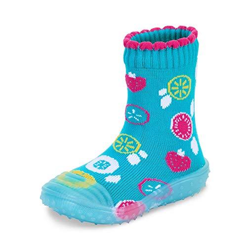 Sterntaler Baby - Mädchen Adventure-Socks, Socke mit Gummisohle, Wasserschuh, Größe: 25/26, Türkis