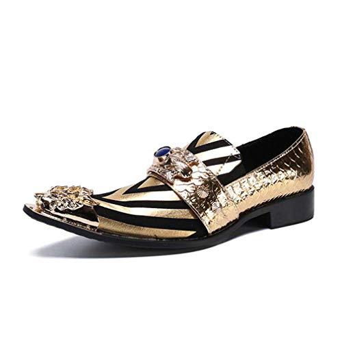 Chelsea Boots, Heren Punk Rock Goth enkellaarsjes, Western Puntschoen Boots, de Britse Leeglopers, Slip-Ons Antislip Blok van de kleur zwart, goud, bruiloft, feest en 's avonds