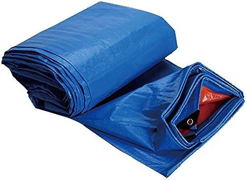 LIXIONG Plane Gewebeplane Zelt Regenfest UV-Schutz Draussen Sonnencreme LKW Schuppen Tuch W ed ung, 11 Grün, 160G   ㎡ (Farbe   Blau Orange, Größe   7.8x9.8m)
