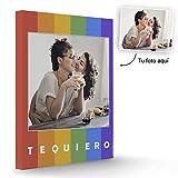 Fotoprix Lienzo Personalizado con Foto y diseño 'Arcoiris' | Regalo Original LGTB - Orgullo Gay | Varios diseños y tamaños (Arcoiris, 30 x 40 cms)