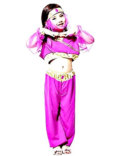 Inception Pro Infinite Disfraz - Disfraz - Carnaval - Halloween - Odalisca - rabe - Danzadora del vientre - Color morado - nia - Talla XL - 7 - 8 aos - Idea de regalo original