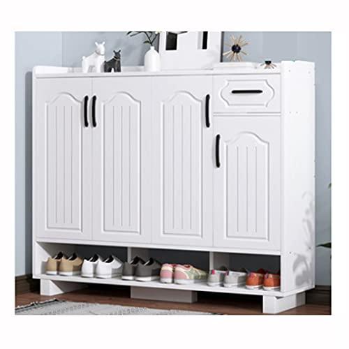 QIFFIY Zapatero de alta capacidad a prueba de polvo en la puerta del hogar, zapatero de varias capas de espesamiento para habitación (color: D)