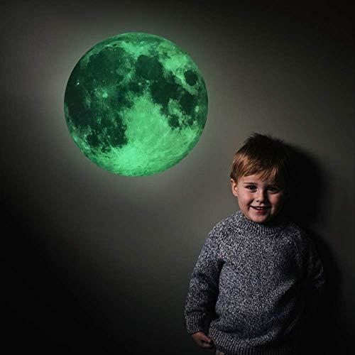 mengzhong creatieve gloeiende fluorescerende maan tricolor kwekerij kwekerij muur decor sticker verwijderbare beveiliging muur sticker