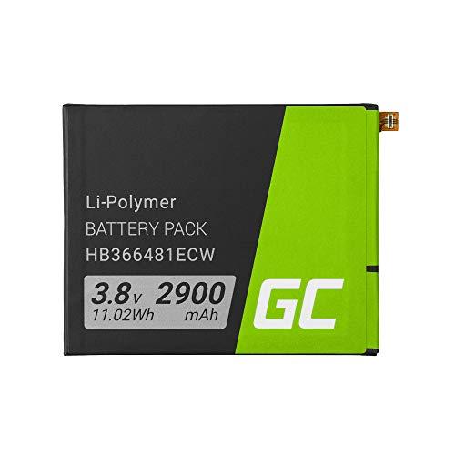 Batería de repuesto interna Green Cell HB366481ECW compatible con Huawei P9 Lite Honor 8 | Li-Polymer | 2900 mAh 3.8 V | Batería de reemplazo para teléfono móvil del smartphone | Recargable