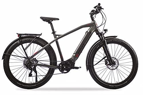 Brinke Bicicletta Elettrica E-Bike Overland XT Sport Motore Shimano E7000 Batteria 500Wh - Taglia 46 S - Grigia