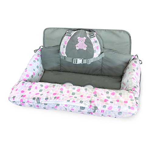 Lowest Price! Carter's 2-in-1 Shopping Cart and High Chair Cover Bear, Pink/White