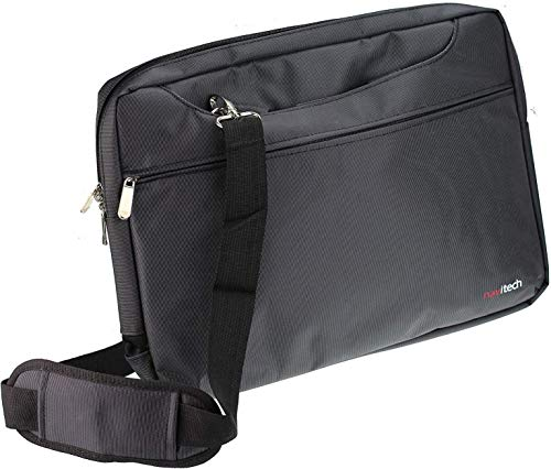Navitech Black Sleek Premium Water Resistant Shock Absorbent Carry Bag Case Compatible with The Dell Inspiron 13 7000 2 in 1 / Dell Latitude 11 3190 2in1 / Dell Latitude 7400 2 in 1 14'