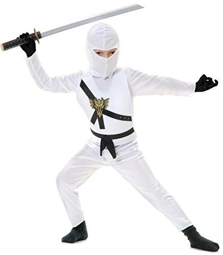 Charades Ninja Master weiß Kinder Kostüm - Ninjago (Kinder Small 6/8)