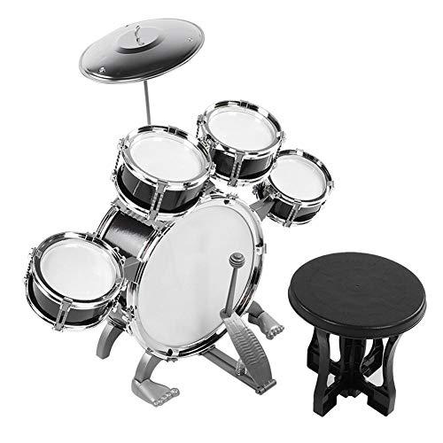 Zerodis Ensemble de Batterie pour Enfants, Instrument de Musique Jouets éducatifs Instrument de Musique Jouet Enfants Éducation précoce Puzzle Game Mini Drum Beginners Kit Cadeau pour Enfant(#1)