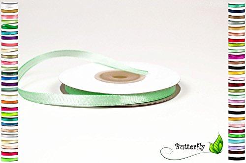 Creativery 25m Rolle Satinband 6mm // Schleifenband Deko Band Dekoband Geschenkband Dekoration Hochzeit Taufe (mintgrün/Mint 513)